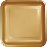 Creative Converting Glittering Gold 7 Square Luncheon Plates, 18/Pack