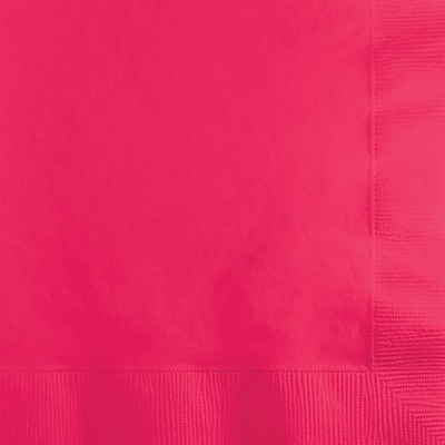 Creative Converting Hot Magenta 2-Ply Beverage Napkins, 50/Pack