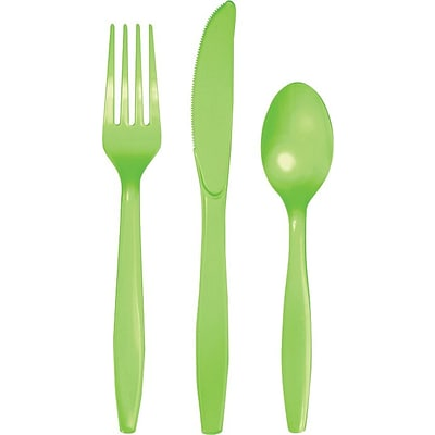 Creative Converting Fresh Lime Assorted Cutlery, 24/Pack