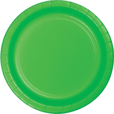 Creative Converting Fresh Lime 9 Round Dinner Plates, 24/Pack