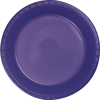 Creative Converting Purple 7 Round Luncheon Plates, 20/Pack