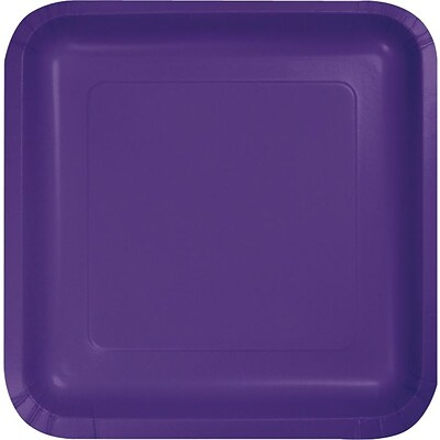 Creative Converting Purple 7 Square Luncheon Plates, 18/Pack