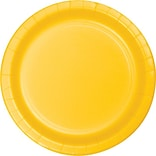 Creative Converting School Bus Yellow 7 Round Luncheon Plates, 24/Pack