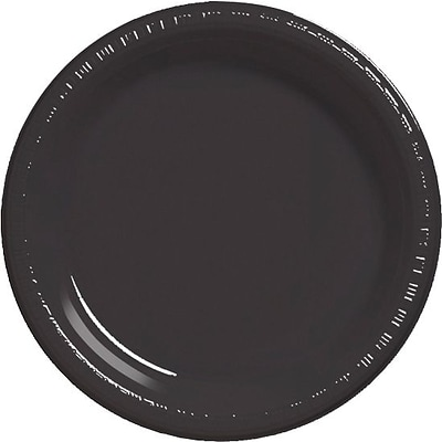 Creative Converting Black Velvet 10 Round Banquet Plates, 20/Pack