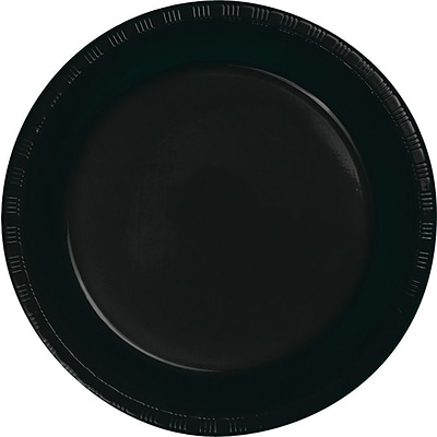 Creative Converting Black Velvet 7 Round Luncheon Plates, 20/Pack