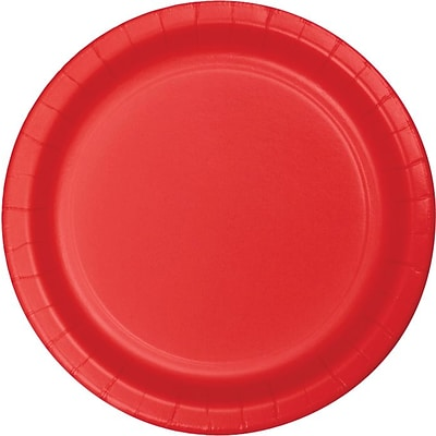 Creative Converting Classic Red 10 Round Banquet Plates, 24/Pack
