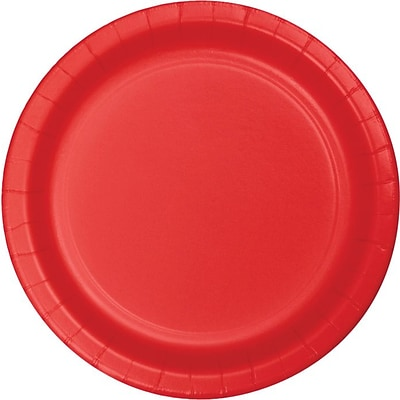 Creative Converting Classic Red 7 Round Luncheon Plates, 24/Pack