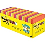Post-it® Super Sticky Notes, 3 x 3, Marrakesh Collection, 24 Pads/Cabinet Pack (654-24SSAN-CP)
