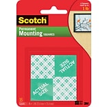 Scotch® Permanent Heavy Duty Mounting Squares, 1 x 1, 16/Pack
