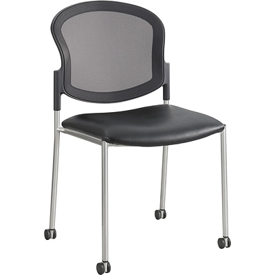 Safco® Diaz™ Guest Chair, Steel, Multi-Use Black/Silver, Each (5009BV)