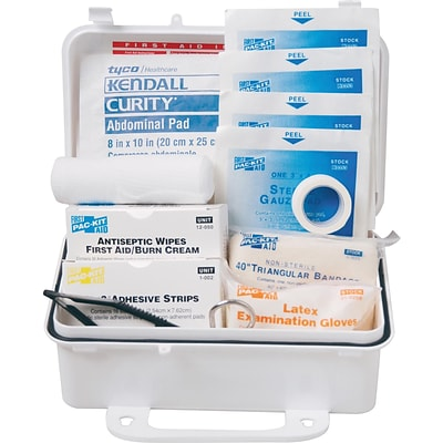 Pac-Kit® Weatherproof Plastic First Aid Kit; 57 pieces