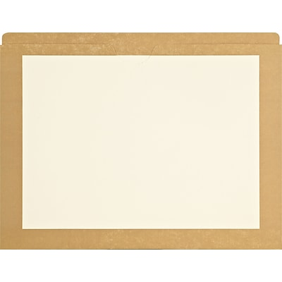 Medical Arts Press® Top-Tab Colored Border File Pockets; Color Border Tan, 100/Box