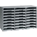 Storex 24-Compartment Literature Organizer, Gray (61434U01C)