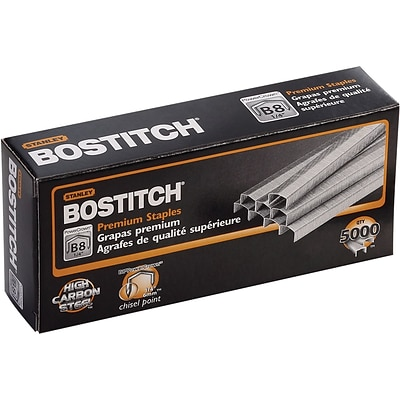 Bostitch® Premium B8 Standard Staples, 1/4, 5,000/Box
