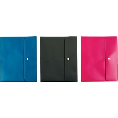 Pendaflex® 2-Pocket Folders, Letter Size, Assorted Colors, 3/Pack (44313)