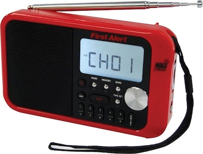 First Alert(r) AM/FM Weather Band Clock Radio with Weather Alert