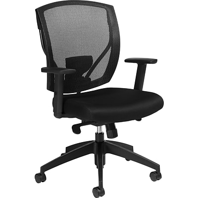 Offices To Go® Ergonomic Office Chair, Upholstery, Black, Seat: 20Wx18 1/2D, Back: 19 1/2Wx20H