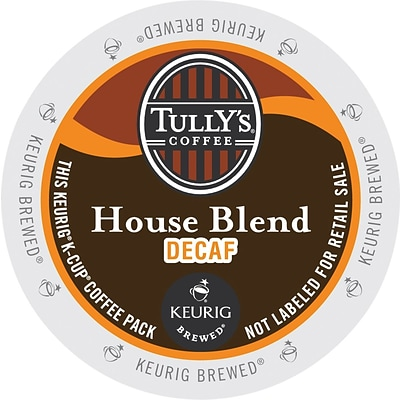Tullys® House Blend Decaf Coffee, Keurig® K-Cup® Pods, Medium Roast, Decaffeinated, 24/Box (GMT192519)