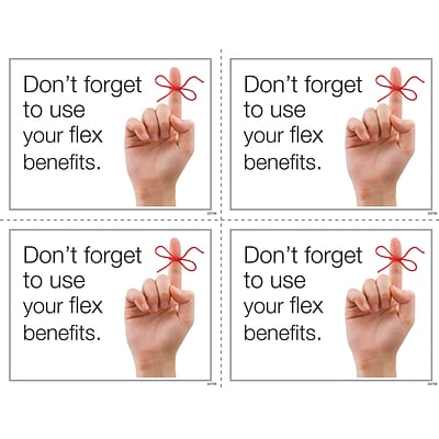 Medical Arts Press® Photo Image Laser Postcards; Dental Flex Spending Finger on a String