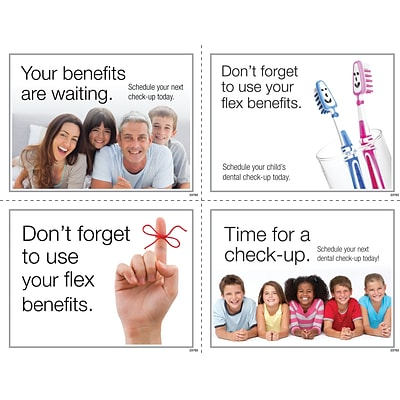 Medical Arts Press® Photo Image Assorted Laser Postcards; Dental Flex Spending