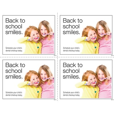 Medical Arts Press® Photo Image Laser Postcards; Back to School Girl Brushing Teeth