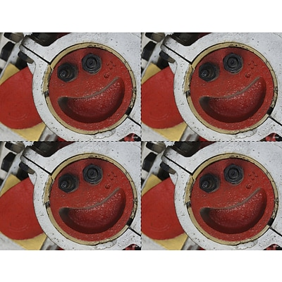 Medical Arts Press® Photo Image Laser Postcards; Red Machine Smile
