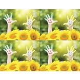 Laser Postcard; Hands & Flower Smile