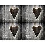 Laser Postcard; Wooden Heart