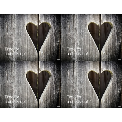 Medical Arts Press® Photo Image Laser Postcards; Wooden Heart