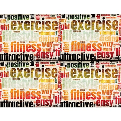 Medical Arts Press® Photo Image Laser Postcards; Exercise Brown and Orange