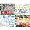 Asrtd Laser Postcard Healthy Words