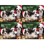 Laser Postcard; Pupplies in Santa Hat