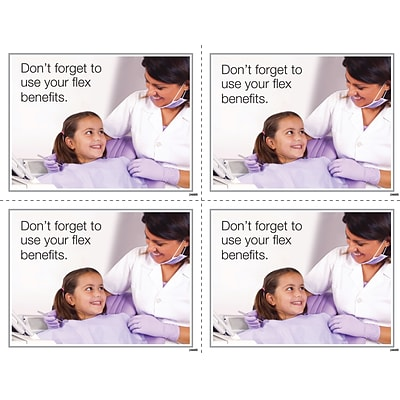Medical Arts Press® Photo Image Laser Postcards; Flex Spending Girl w/Dentist