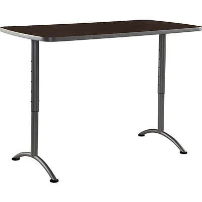 ARC Adjustable Height Table 30x60 Rectangular, Walnut Charcoal Legs