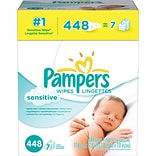 Pampers Baby Wipes Sensitive 7X Refill, 448/Carton (19513)