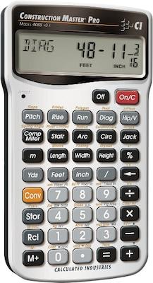 Construction Master ProAdvanced Feet Inch Fraction Construction Math Calculator Master ProCalculator
