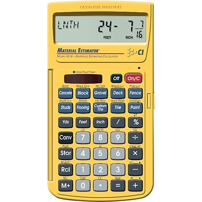 Calculated Industries 4019 Material Estimating Calculator, Yellow