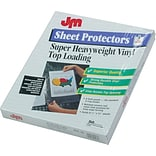 Oxford Top-Load Poly/Vinyl Three-Hole Sheet Protectors, Heavy Wt, Letter, 50/Box