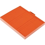 Pendaflex Out/Substitution Guides, 1/5 Top Tab, 11 pt. Stock, Letter, Salmon, 100/Box