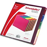 Pendaflex Top Tab File Guides, Alpha/A-Z 1/5 Tab, Polypropylene, Letter, 25/Set