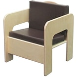 Wood Designs™ 20(H) Plywood Padded Chair, Brown Cushion
