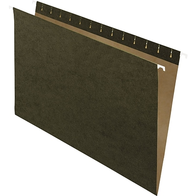 Pendaflex Hanging File Folders, Untabbed, Legal, Standard Green, 25/Box (81620)