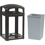 Rubbermaid Landmark Dome-Top Trash Container