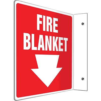 Accuform Signs® Fire Blanket Projection Sign, White/Red, 8H x 8W, 1/Pack (PSP705)