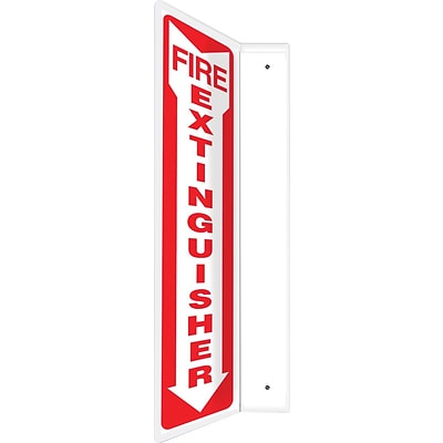 Accuform Signs® Fire Extinguisher Projection Sign, Red/White, 24H x 4W, 1/Pack (PSP719)