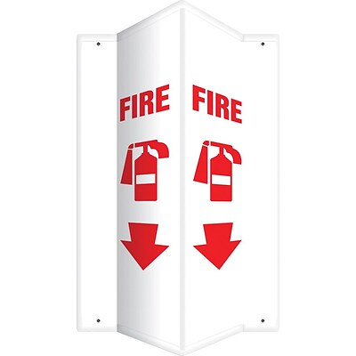 Accuform Signs® Fire Projection Sign, Red/White, 24H x 4W, 1/Pack (PSP634)