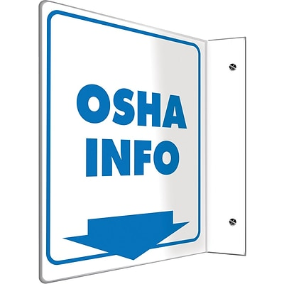Accuform Signs® OSHA Info Projection Sign, Blue/White, 8H x 8W, 1/Pack