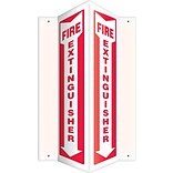 Accuform Signs® Fire Extinguisher Projection Sign, Red/White, 12H x 4W, 1/Pack