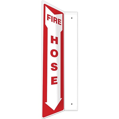 Accuform Signs® Fire Hose Projection Sign, Red/White, 18H x 4W, 1/Pack (PSP410)