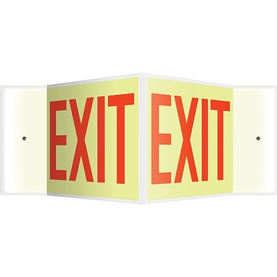 Accuform Signs® Exit Projection Sign, Red, 8H x 12W, 1/Pack